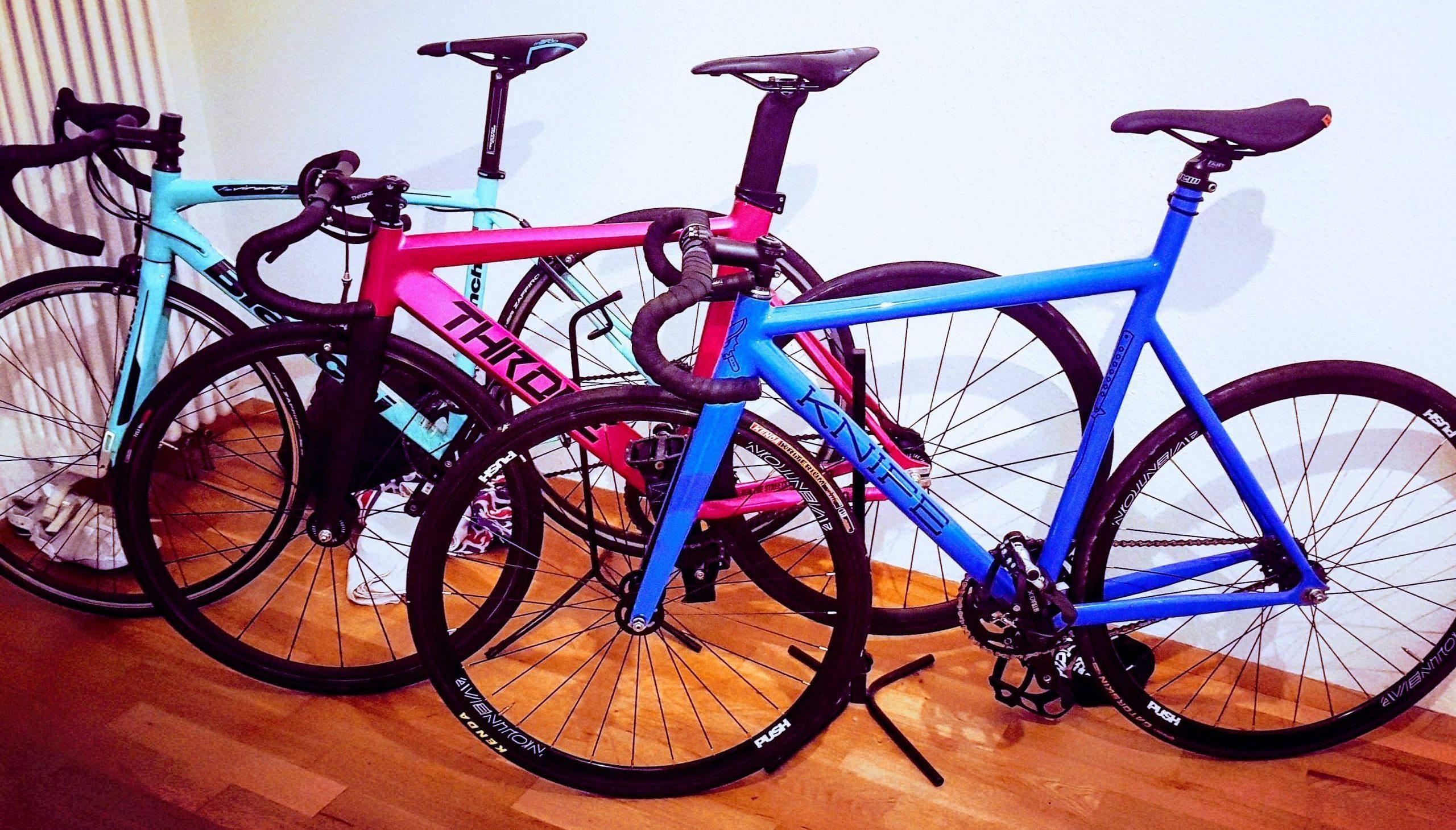 Drei Fixie Bikes